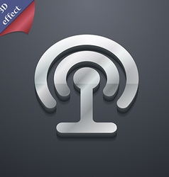 Wifi icon symbol 3d style trendy modern design vector