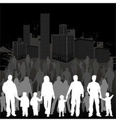 Collect family silhouettes vector