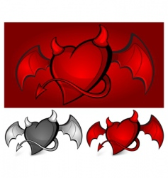Devil heart vector