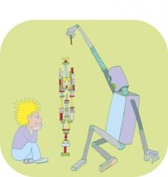 Boyandrobot vector