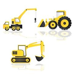 Construction trucks vector