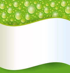 Card with green water drop vector