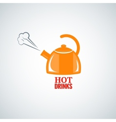 Kettle design background vector