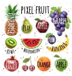 Pixel fruit vector