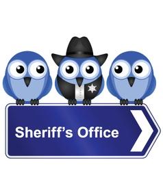 Sheriffs office sign vector