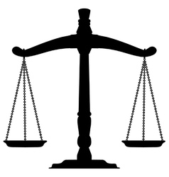 Beam balance scale silhouette vector