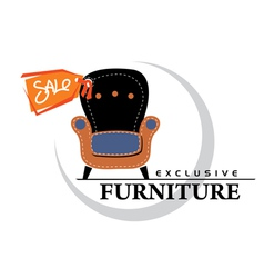 Furniture sale tag vector
