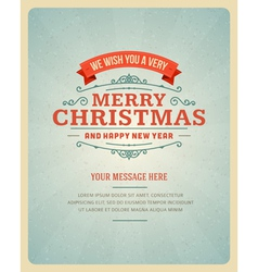 Merry christmas greeting card ornament decoration vector