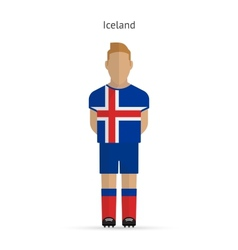 Iceland football player soccer uniform vector