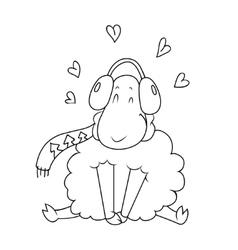 Lamb doodle vector