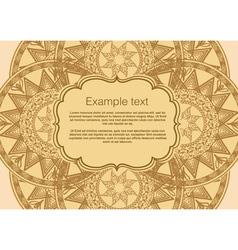 Invitation card boho vector
