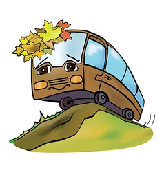 Bus autumn vector