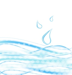 Abstract water background with drops vector