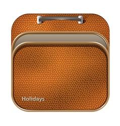 Icon suitcase trunk vector