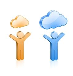 Custom cloud hosting vector