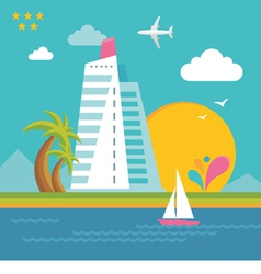 Summer holiday on the sea - creative vector