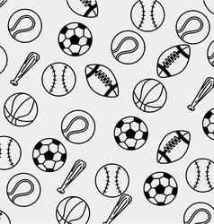 Balls sport design vector