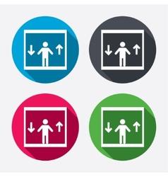 Elevator icon person symbol with up down arrows vector