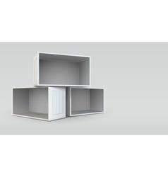 Empty open boxes vector