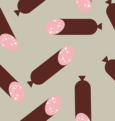 Sausage pattern seamless wurst endless print vector