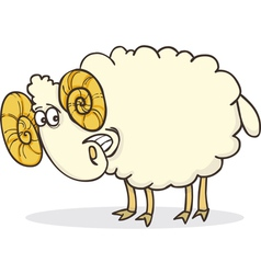 Cartoon of funny happy ram vector