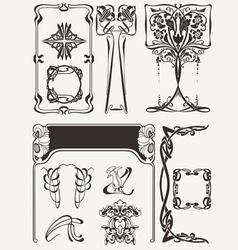 Set of art deco elements vector