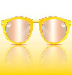 Yellow frame sunglasses vector