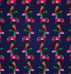 Seamless pattern with colorful deers vector