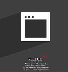 Simple browser window icon symbol flat modern web vector
