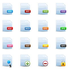 Document icons set vector
