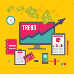 Business trend in flat design style vector