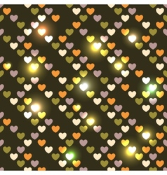 Valentines day bright seamless hearts vector