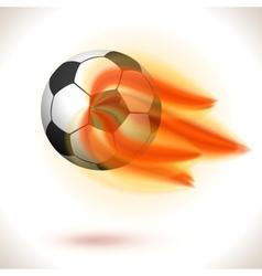Fire flaming soccer ball vector