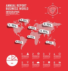 Infographic annual report business world vector