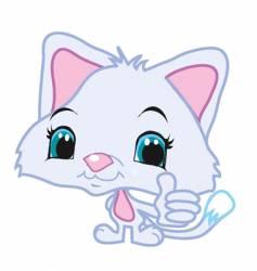 Thumbs up kitty vector