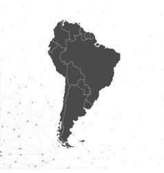 South america map  for communication vector