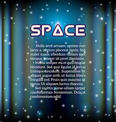 Space background with lightened corridor vector