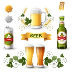 Beer emblems vector
