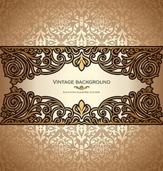 Vintage card royal vector