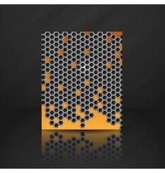 Hexagon metal banner vector