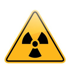 Danger radiation sign vector