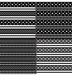 Black and white polka dot horizontal striped vector