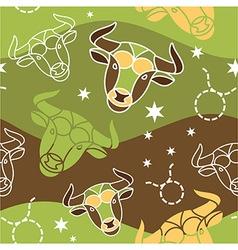 Taurus - zodiac seamless pattern vector