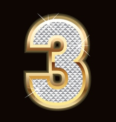 Three bling bling vector