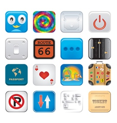 Apps icon set six vector