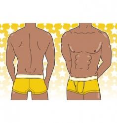 Man in boxer brief vector
