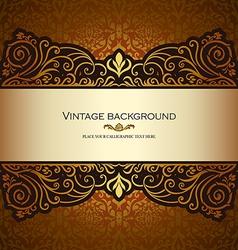 Vintage card gold royal vector