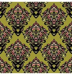 Ethnic damask seamless pattern background vector