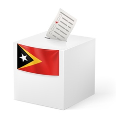 Ballot box with voting paper east timor vector