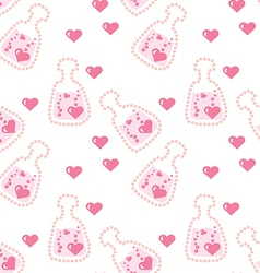 Seamless love potion texture vector
